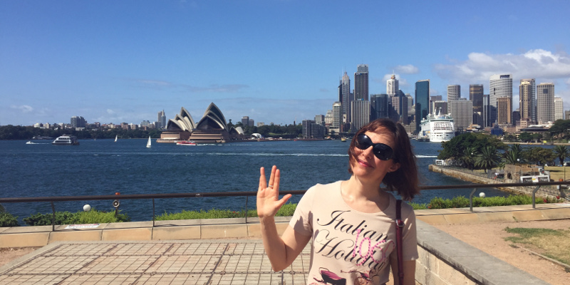 Patricia (a Highly Sensitive Person) and the Sky Line of Sydney