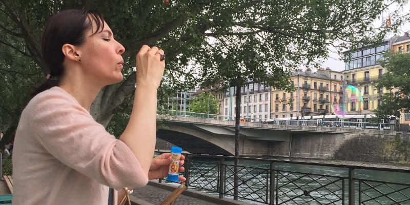 Patricia Mauerhofer - blow bubbles