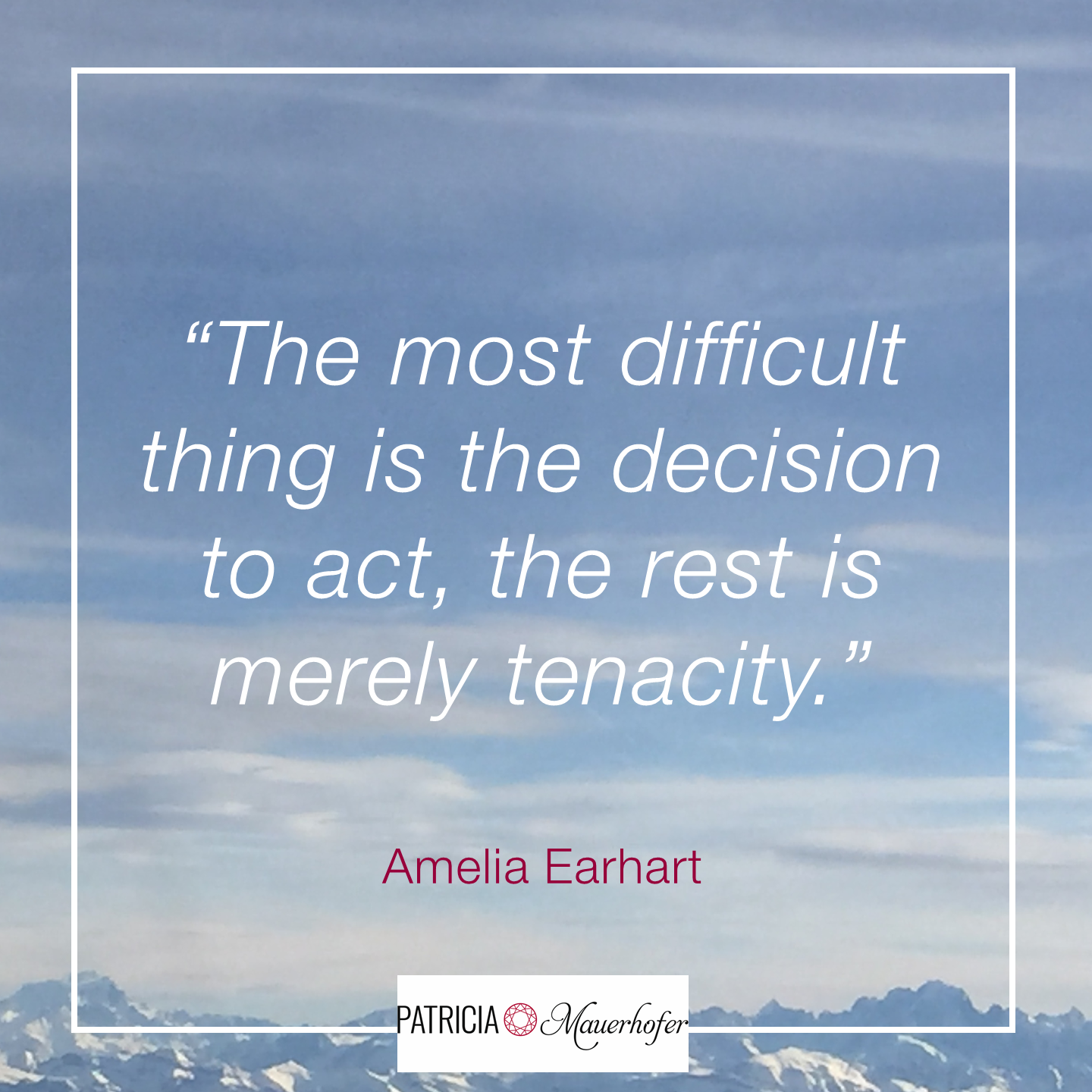 Having it all - earhart quote